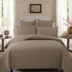 Goedkope In reliëf gemaakte Microfiber Koningin Bed Spread Set