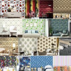 El papel de pared de vinilo resistente al agua de PVC de 3D Wallcovering Papel tapiz de la decoración del hogar