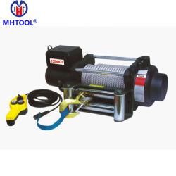 Leistungsfähiges Stahlkabel der einphasig-elektrisches Hebevorrichtung-Handkurbel-9000lb 12V für das Anheben und das Ziehen