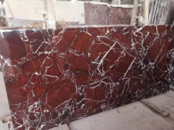 La pierre naturelle rosa rouge/blanc/poli perfectionné Rosso Lepanto marbre pour les dalles de plancher et de mur/tuiles/comptoirs/les escaliers et des sills/colonne/mosaïque Décoration des Intérieurs