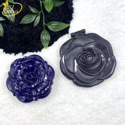 꽃 로즈 플라스틱 화장품은 소형 미러를 구성한다