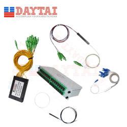 1X2/1X4/1X8/1X16/1X32/1X64/1X128/2X4/2X8/2X16/2X32 van uitstekende kwaliteit Al PLC van de Optische Kabel van het Type Splitser en Optische PLC van de Vezel Splitser