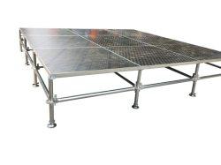 トラスブースのための鋼鉄層の段階の調節可能な足