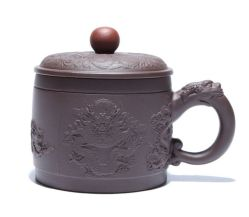 Dom Criativo Dragon Anaglyph OEM Sand-Fired Yixing Teacup