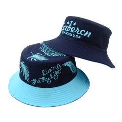 習慣は帽子の方法夏の綿の中国2の側面のバケツの帽子屋外釣帽子を遊ばす