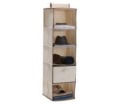 서랍을%s 가진 Foldable 옷장은 옷 저장 상자 거는 옷장 조직자를 선반에 놓는다
