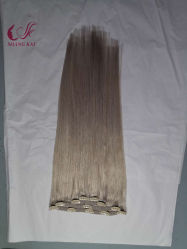 Mayorista de moda Hotselling fábrica de luz de color 100% Humano Virgen Clip Hair Extension