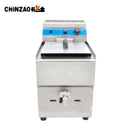 Depósito de chips comerciales solo Gas freidora (GZL-17)