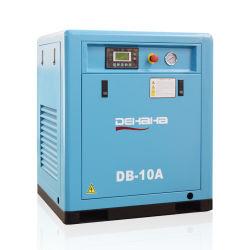 برغي شهادة CE الصناعية ثابت بقدرة 7.5 كيلو واط (10HP)، يتم تشغيله بسير صغير ضغط الهواء اللولبي أقل سعر