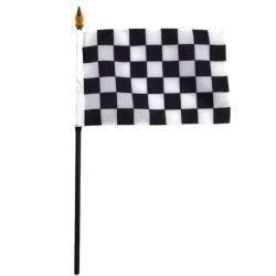 De goedkope Nationale Vlaggen van de Hand van het Embleem van de Druk van de Douane van Landen en de Mini Kleine Golvende Vlaggen van de Hand