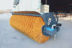 Полезным оборудования для муниципальных Службы торговой марки Hcn 0201 поворотной щетки для всех торговых марок Минипогрузчика, погрузчика и дорожного транспортного средства, Broomer, очиститель для продажи