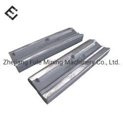 Ampliamente utilizado parte de equipos de minería de la barra de soplar la placa mandíbula