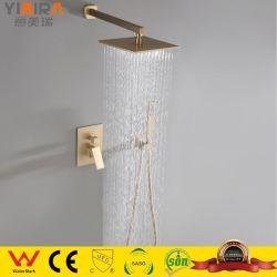 Sanitarios en la pared de la lluvia dorada Alcachofa de ducha con agua fría y caliente Mr-H6009
