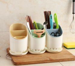 Plastikentwässerung-Ess-Stäbchen-Regal-Küche-Tafelgeschirr und Ess-Stäbchen-Gefäß