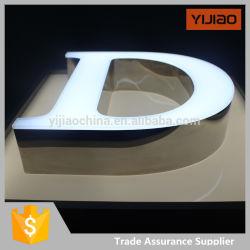 LED Aceso Dianteiro Carta de canal de metal assinar sem tampa de guarnição na Face da energia solar