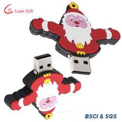 Aandrijving van pvc USB van de Kerstman 2GB/4GB/8GB/16GB/32GB van de Giften van de bevordering de Rubber