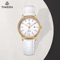 Signora su ordinazione Leather Watch71244 dell'orologio delle donne dell'acciaio inossidabile di alta qualità