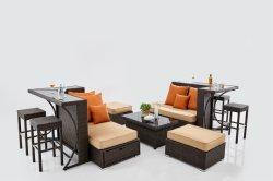 余暇の贅沢な金属の鉄棒の家具の藤のアルミニウム庭棒表