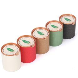 Alimentos com tampa de plástico Ecológico de papel reciclável Embalagem Tubo Latas de papel