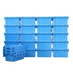 倉庫の接続されたふたの戦闘状況表示板ボックスを移動するためのスタック可能プラスチック木枠のネスティング容器