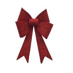 Décoration Pre-Lighted paillettes en PVC rouge Bow pour arbre de Noël
