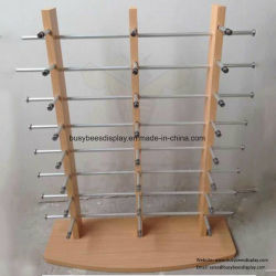 Banco di mostra di legno di vetro della contro parte superiore della cassa degli occhiali da sole del personalizzato di