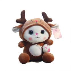 هدية من قطرة عيد ميلاد الطفل الفاخر الناعم المحشو بطول 25 إلى 40 سم لعبة جميلة مع قبعة هوليداى