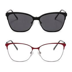 Металлические стиле двойной цвет магнитом металлические зажимы на солнечные очки поляризованной вилкой для УФ400 защиты держателей