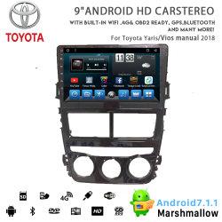 Huit coeurs Vshauto Android 8.1 DVD Voiture radio pour Toyota Yaris/Vios manuel 2018
