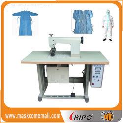 Máquina de sellado de bolsas de Nonwoven Non-Woven bata quirúrgica ultrasónica multifuncional Puntilla máquinas de coser