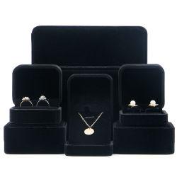 Бархат/ткани бумаги серьги и кольцо / браслет или подарочной упаковки коробки ювелирных изделий