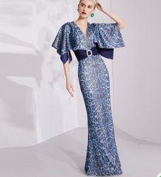 2020 Nuevo desgaste de la mujer de moda de señoras elegantes vestidos largos banquetes Slim-Fitting Fishtail trajes de noche