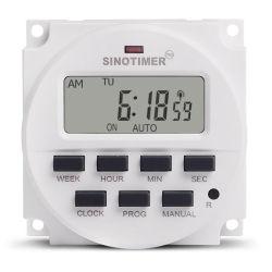1 zweiter Abstand super grosser Wechselstrom LCD-Digital 12VDC Beleuchtung-Timer-Schalter 7 Tageswöchentlich programmierbarer Digital-elektronischer LED