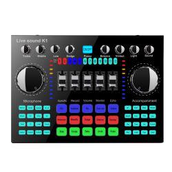 Externo USB PC calculador Telemóvel cantar a cargo estúdio de gravação de placa de som áudio para transmissão ao vivo Mic Placa de Som