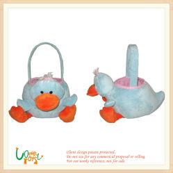 Zacht pluche gevulde Blue Duck Animal Candy Basket Toy