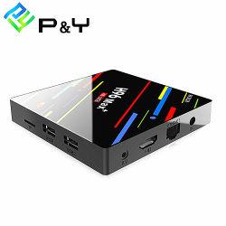 Casella astuta astuta in tensione di WiFi TV del contenitore superiore stabilito di contenitore H96 Max+ Rk3328 4G 64G di Android TV del quadrato casella astuta Android TV di memoria 4G 64G 2018 della migliore Xbmc IPTV