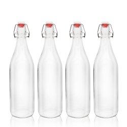 1 litre le flacon en verre Flip Top Cap 33oz Beverage 1000ml avec bouchon de rotation utilisée dans la cuisine de kombucha