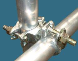 Tubo de andaimes andaimes tipo de peça e galvanizados a quente BS1139 Acoplador de andaimes