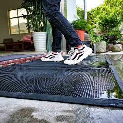Esteras de plástico de la puerta de PVC Desinfecting Alfombra de pie
