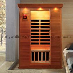 De droge Zaal van de Sauna die van het Rode Hout van de Ceder van Canada voor het Gebruik van 2 Mensen wordt gemaakt