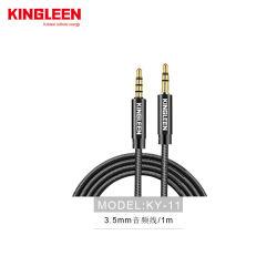Téléphone Mobile 1m audio hi-fi audio auxiliaire 3,5 mm câble tressé en nylon mâle à mâle câble auxiliaire