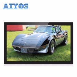 24'' de alta resolución de pantalla táctil LCD IPS coche reproductor de montaje en pared Android WiFi el reproductor de publicidad