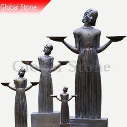 Statue de bronze Savannah Girl (GSBR-509)