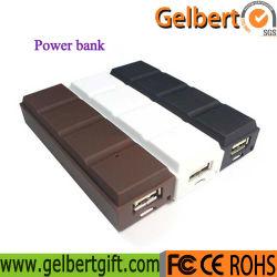 Novo Gadget pequeno chocolate power bank portátil universal