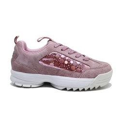 XinchenのFashion Sneaker Laser PU高く平らな女性の靴の女性