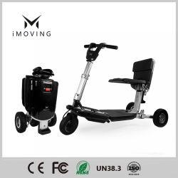 Discapacitados de 3 ruedas moto scooter de movilidad eléctrica plegable con FCC