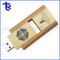 Venda por grosso de promoção Novo Cartão USB Flash Drive USB Giratório de madeira