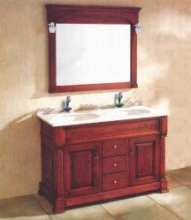 Clique duas vezes na Bacia de cerâmica antiga casa de madeira sólida com espelho de cortesia