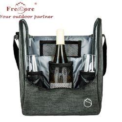 カスタマイズされたピクニックおよび旅行ビール瓶のびんのワインの戦闘状況表示板の氷のクーラー袋