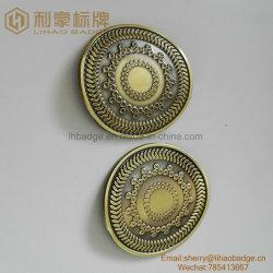 Plaque de métal courbé pour cuvette en verre de vin, pliées en alliage de zinc d'un insigne